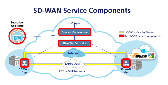 sd-wan service components